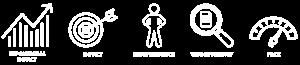 5 Values white row